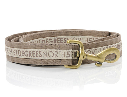 51 Degrees North Dog Leash   White Sand