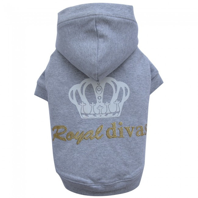 DoggyDolly royal grey - hond sweater met capuchon