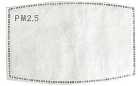 Filter PM2,5 voor mondmaskers