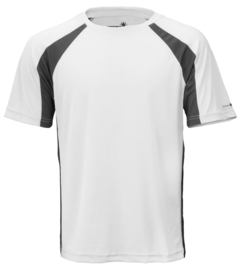 Performance T-Shirt Korte mouw, Heren - Wit / carbon