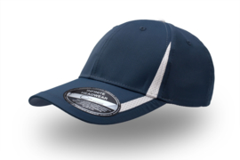 Jogging Cap Navy  - Wit