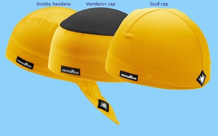 3-Pack SportCaps - Geel