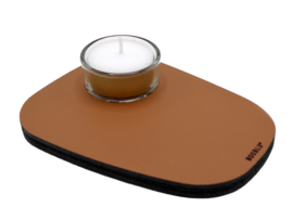 Waxinelichthouder PEBL - Cognac