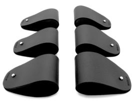 MANCHET servetring zwart - set van 6