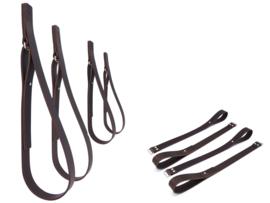 SHELV+ 4 plankdragers incl. extenders donkerbruin