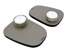 Waxinelichthouder PEBL - Clay - set van 2