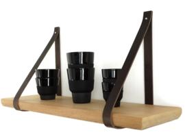 SLING ophanglus 2,5 cm - maat M - cognac (2)