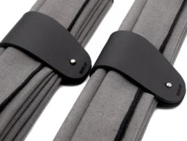 MANCHET & LINNEN zwart/antra  - 4 sets