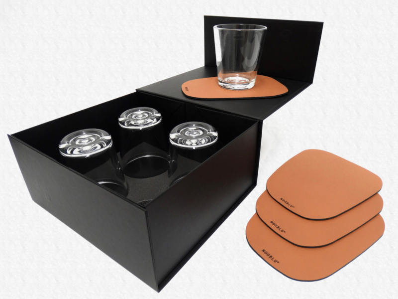 PEBL & SERVE - cognac - 8-delige set