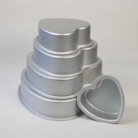 Bakvormen set hart ( geschikt voor bruidstaarten)