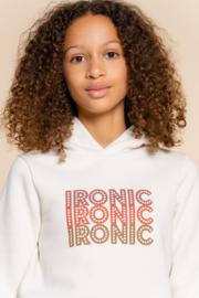 Geisha Girls hoody chest print 'ironic'
