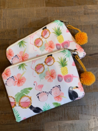 Make--up tas met zomerse print