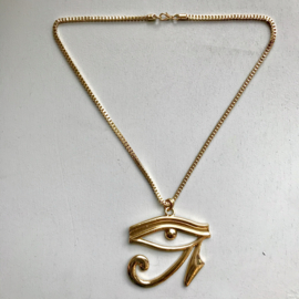 Eye Egyptian Goldtone Necklace