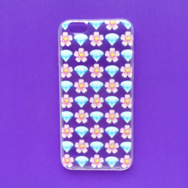 Diamonds and flowers Emoji Phonecase