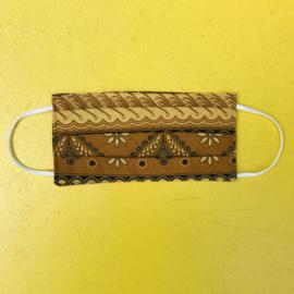 Facemask Brown Batik Reversible