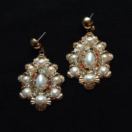 Pearl Gem Earrings