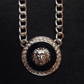 Lionhead Necklace Silver/Black