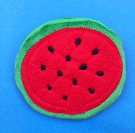 Round Red Watermelon Fruit Coin Wallet
