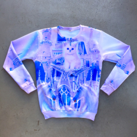 Lilac Unicorn Cat Sweater