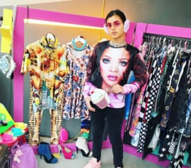 Rihanna Pink Photoprint Sweater