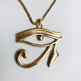 Eye Egyptian Goldtone Necklace