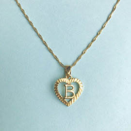 Gold Letter Initial Necklace
