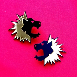 Lion Acrylic Stud Earrings