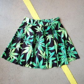 Weed Print Skaterskirt