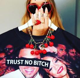 Rihanna 'Trust No Bitch' Photoprint T-shirt