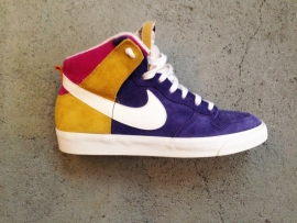 Nike Hi-tops Suede-Purple/Pink/Yellow Size 42