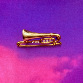 Trumpet Gold Brooch
