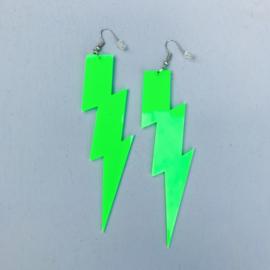 Fluo Green Thunder Earrings