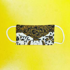 Facemask Yellow/Black Batik