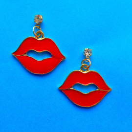 Red Kiss Earrings Small