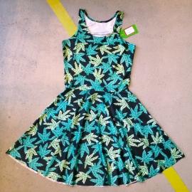 Weed Print Skaterdress
