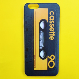 Cassette Phone Case Yellow/Black