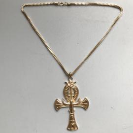 Ankh /Snake Egyptian Goldtone Necklace