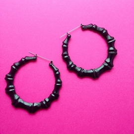 Black Bamboo Earrings XL