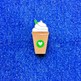 Latte to Go Pin