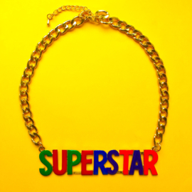 Superstar Colours and Gold Necklace