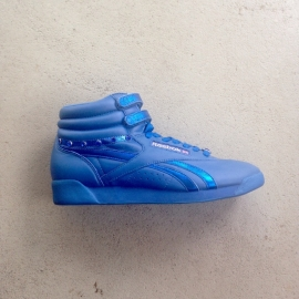 Reebok Freestyle Hi Jewels Blue Size 39