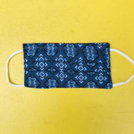 Facemask Batik Blue/Black Reversible