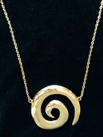 Spiral Gold Necklace