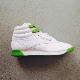 Reebok Freestyle Hi White/Green Size 40