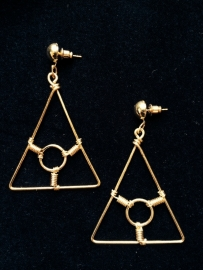 Triangle Earrings in Gold