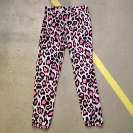 Silky Leopard Print Loose-fit Trousers