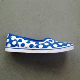 Vans Blue/White Polkadot Size 40