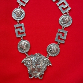 Medusa Silver Short Necklace