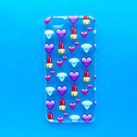 Lipstick Diamonds Emoji Phonecase