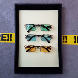Square Gold 90s Sunglasses